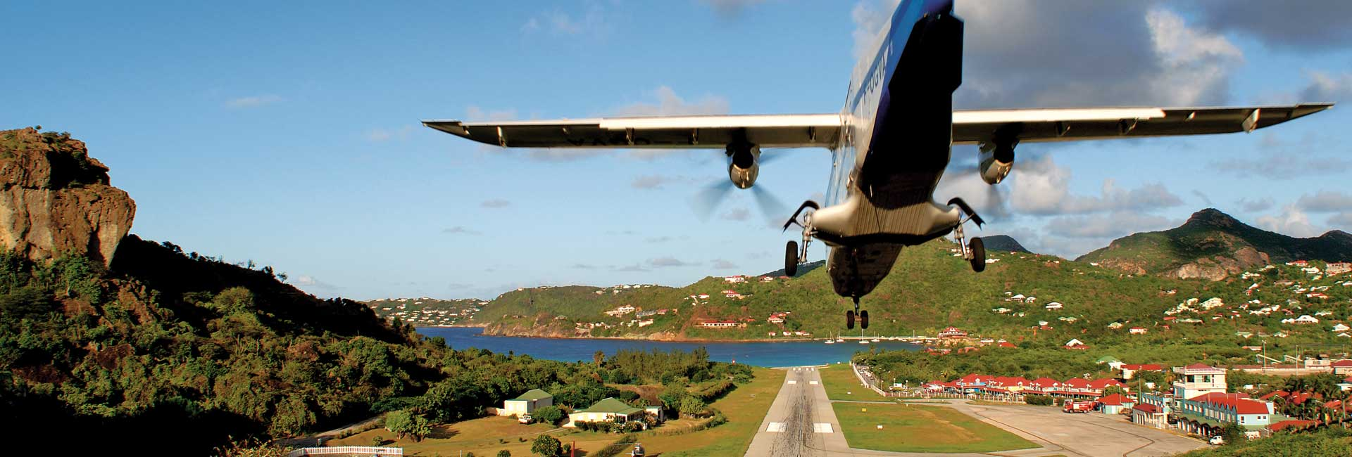 arrival at st barth