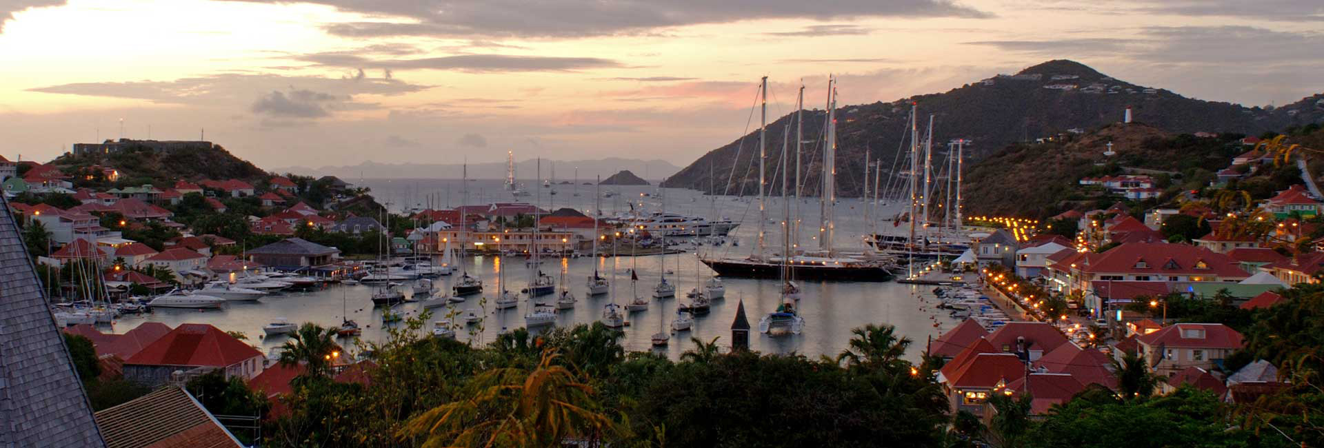 The port of Saint-Barthelemy